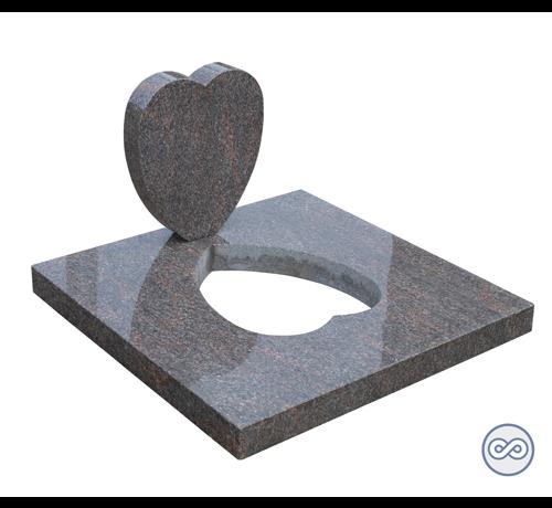 Grafsteenwinkel Grafsteen in hartvorm