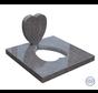 Grafsteen in hartvorm