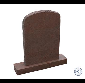Grafsteenwinkel Rode grafsteen op voetstuk