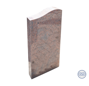 Grafsteenwinkel Smalle grafsteen in rood/bruin graniet