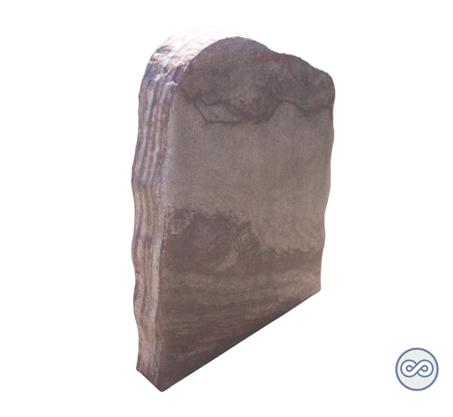 Grafsteenwinkel Ruw gevormde staande grafsteen