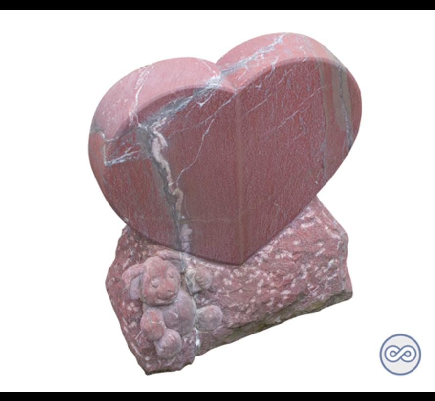 Grafsteen in de vorm van hart