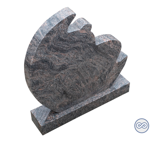 Grafsteenwinkel Grafsteen in de vorm van een maan