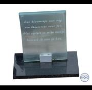 Grafsteenwinkel Gebogen monument van glas