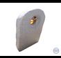 Staande granieten grafsteen met glas