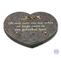 Hartvormige bruine bijzetsteen met mooie tekst