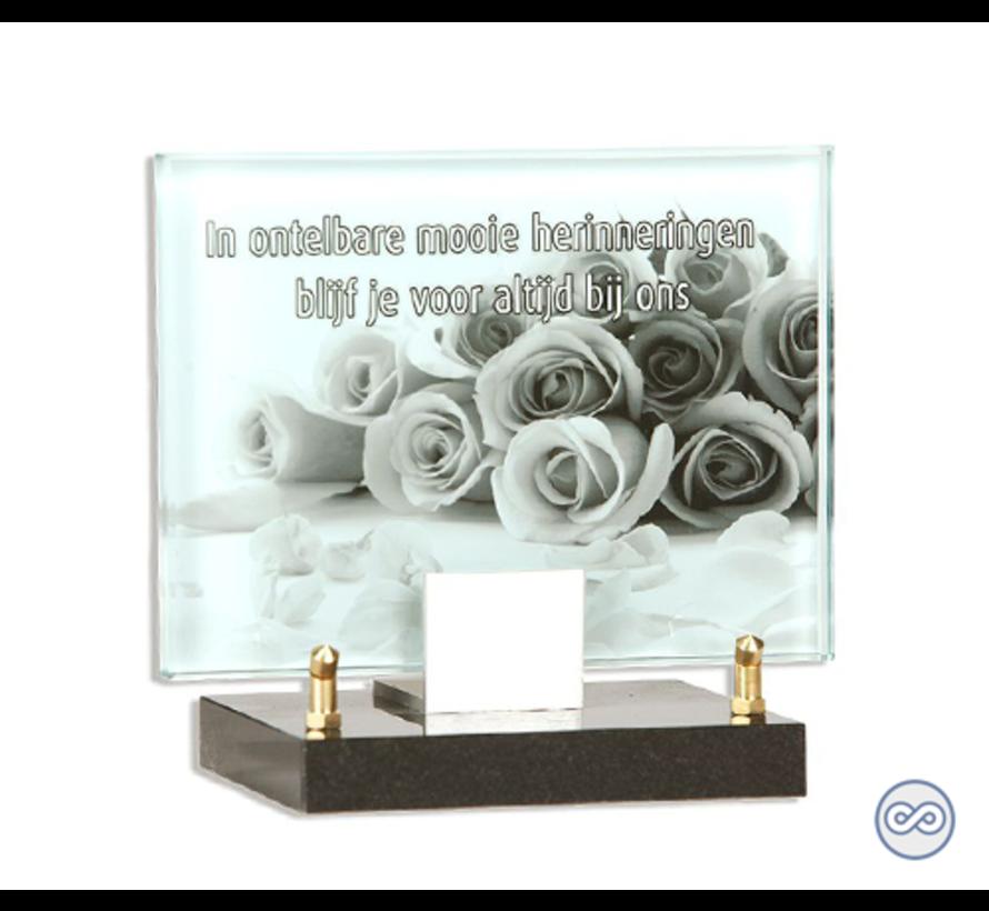 Glasmonument rozen