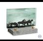 Klein glazen glasmonument paarden
