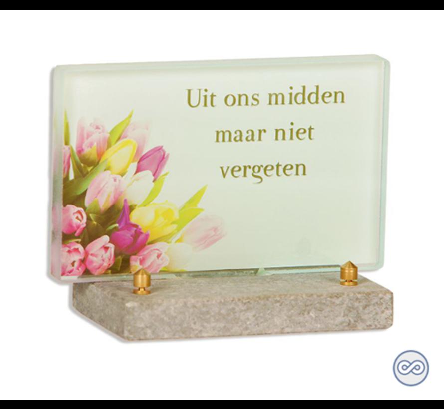 Kleurig glasmonument tulpen