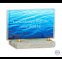 Blauw glasmonument water
