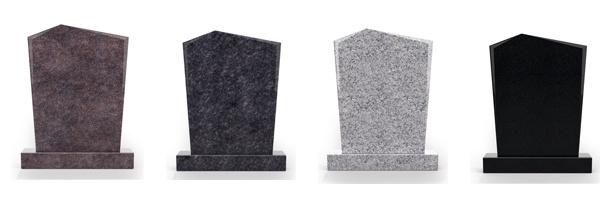 Kleuren staande grafsteen
