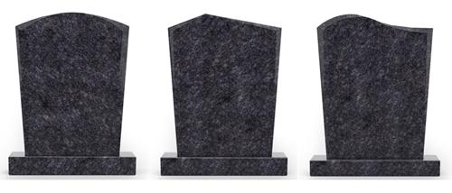 Modellen staande grafsteen