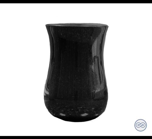 Zwarte grafvaas van graniet