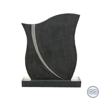 Grafsteenwinkel Zwarte staande steen golf