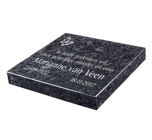 Grafsteenwinkel Liggende grafsteen, Steel Grey  voor een algemeen graf