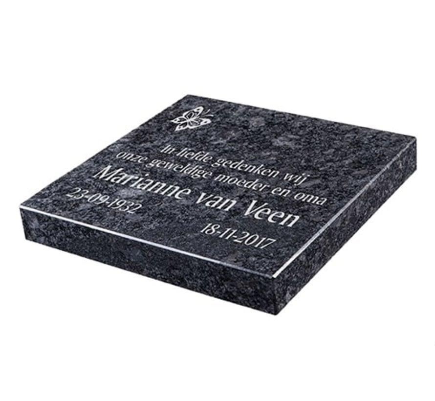 Liggende grafsteen, Steel Grey  voor een algemeen graf