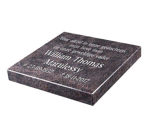Grafsteenwinkel Liggende grafsteen 'Himalaya Blue' voor een algemeen graf