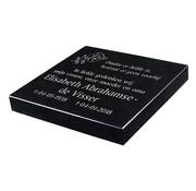 Grafsteenwinkel SNELLE LEVERING - Liggende grafsteen 'Zwart Graniet'
