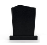Grafsteenwinkel Staande grafsteen Modern letterplaat Zwart Graniet