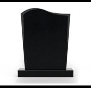 Grafsteenwinkel Staande grafsteen Golf letterplaat Zwart Graniet