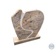 Grafsteenwinkel Zandkleurige granieten grafsteen