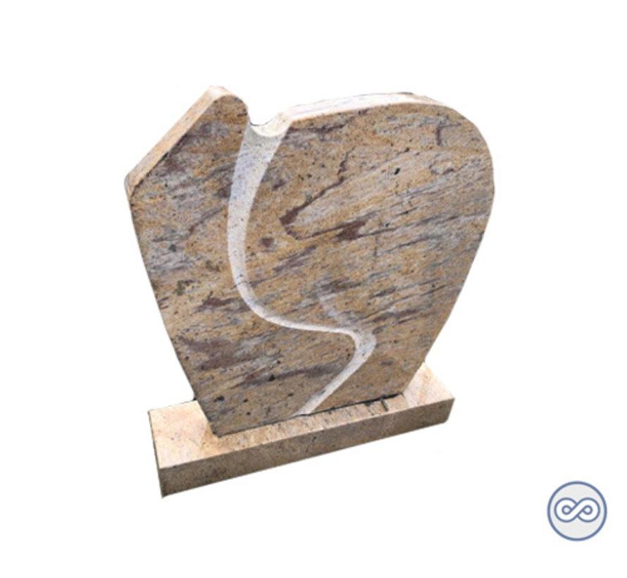 Zandkleurige granieten grafsteen