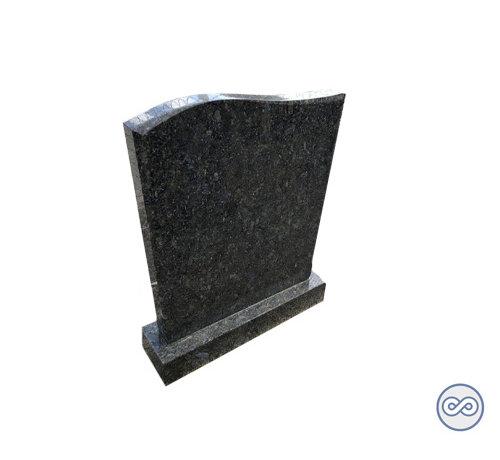 Grafsteenwinkel Groen/blauwe staande letterplaat Golf