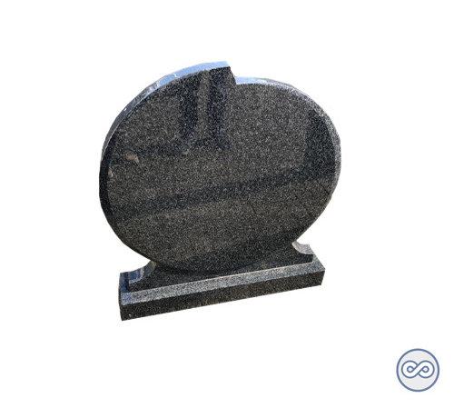 Grafsteenwinkel Granieten grijze ronde grafsteen