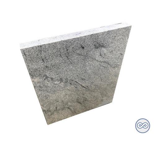 Grafsteenwinkel Strakke witte staande grafsteen