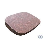 Grafsteenwinkel Rode granieten zerk met ruwe zijkant