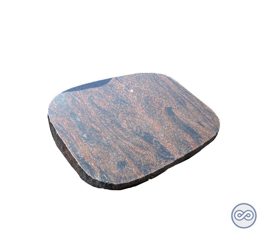 Granieten spiegelkei met ruwe rand