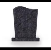 Grafsteenwinkel Staande grafsteen Golf letterplaat Steel Grey