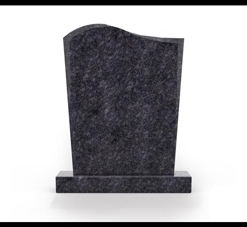 Grafsteenwinkel Staande grafsteen model 'Golf' letterplaat in de kleur Steel Grey