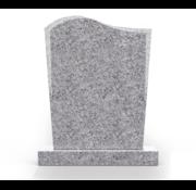 Grafsteenwinkel Staande grafsteen Golf letterplaat Glittery White
