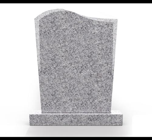Grafsteenwinkel Staande grafsteen model 'Golf' in de kleur Glittery White