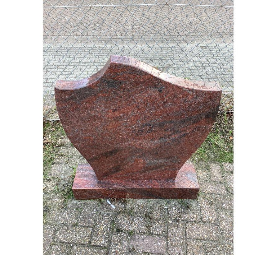 Rode granieten grafsteen punt