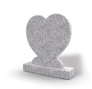 Grafsteenwinkel Staande grafsteen Hartmodel letterplaat Glittery White
