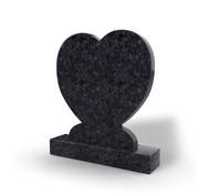 Grafsteenwinkel Staande grafsteen Hartmodel letterplaat Steel Grey