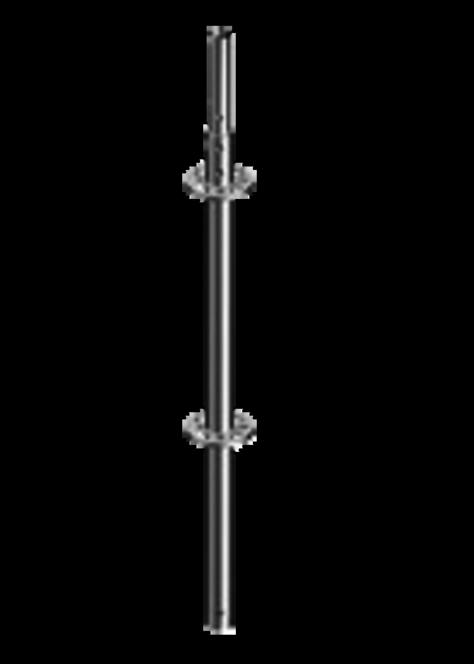 Layher Staander met pen 2,00 meter