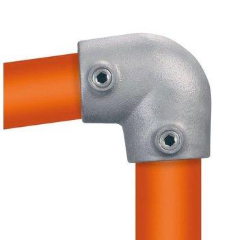 Easyclamp Type 6S: kniestuk 90° variabele hoek: 0 ° - 11 °