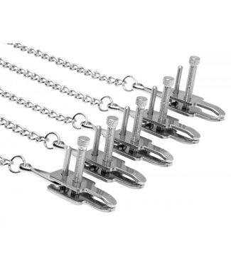 Master Series Game of Chains extreem bondage systeem met klemmen