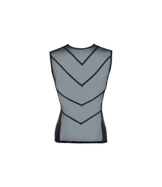 Svenjoyment Underwear Netstof Shirt Met Wetlook Achterkant