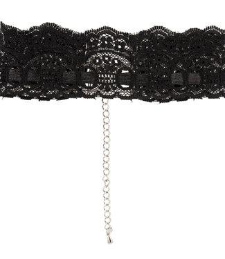 Cottelli Collection Kanten halsband - Zwart