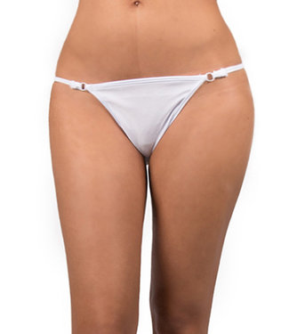 Sexy Kleding Witte String met Zilveren Sieraad