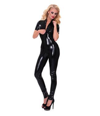 Guilty Pleasure GP Datex Catsuit Met Rits - Zwart