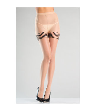 Be Wicked Panty Met Gestreepte Kousen Design