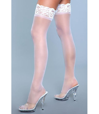 Be Wicked Lace Over It Hold-Up Kousen - Wit