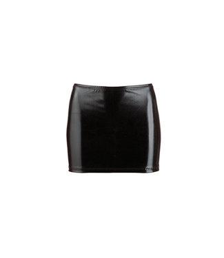 Cottelli Collection Wetlook Mini Rokje - Zwart