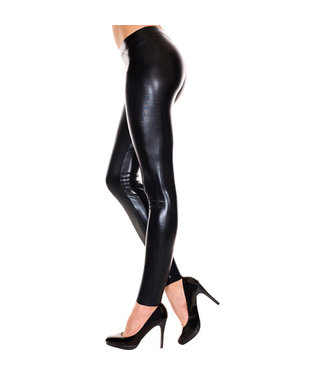 Music Legs Wetlook Legging - Zwart