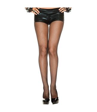 Music Legs Plus Size Naadloze Visnetpanty - Zwart